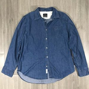 Rag & Bone Fantastic Long Sleeve Denim Shirt XXL